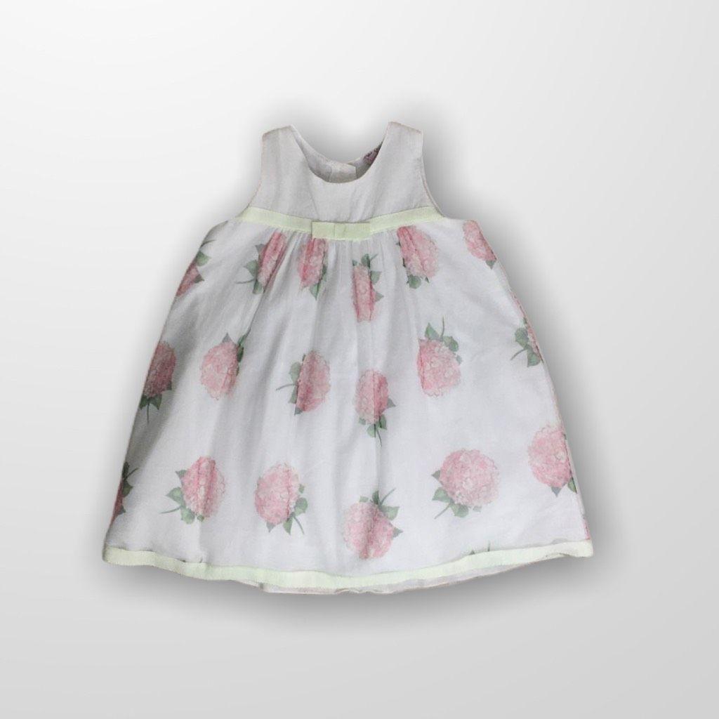 Vestido Branco Floral Monnalisa