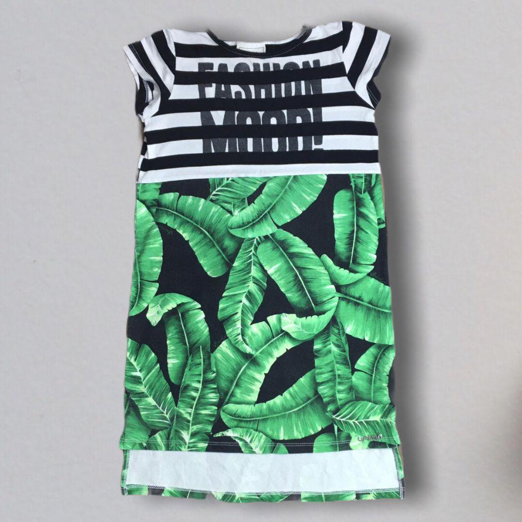 Vestido Fashion Folhas Animê