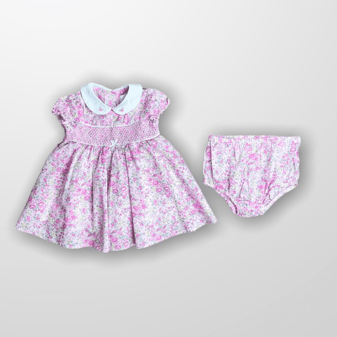 Vestido Floral Casinha de Abelha Little Me 3 Meses