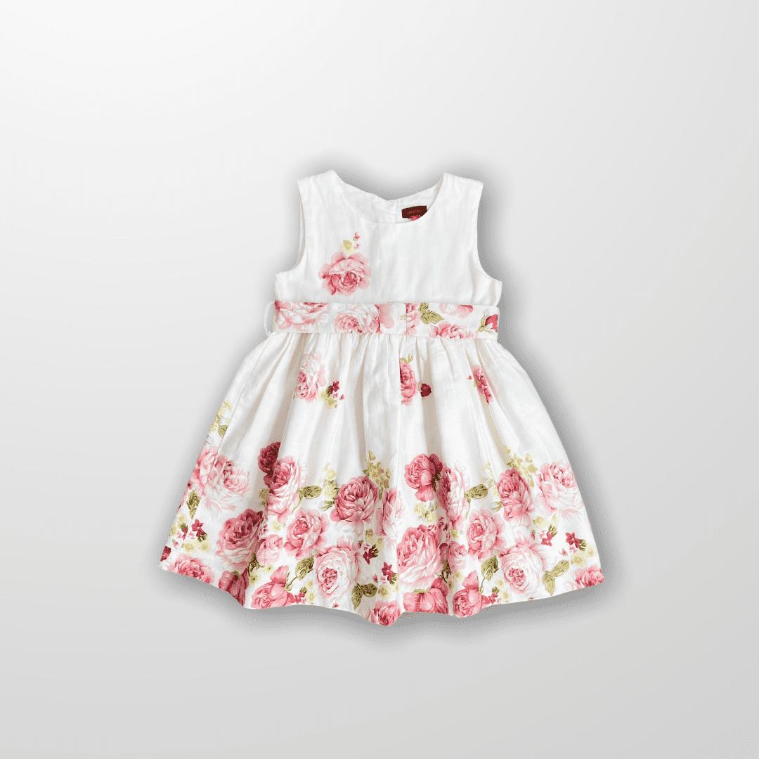 Vestido Floral Catimini Paris 3 Anos
