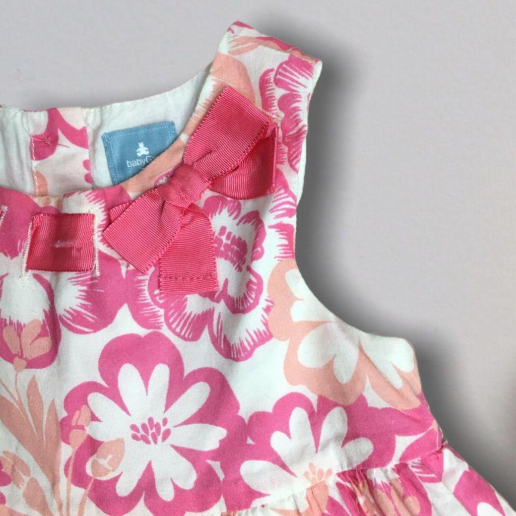 Vestido Floral Rosa Gap