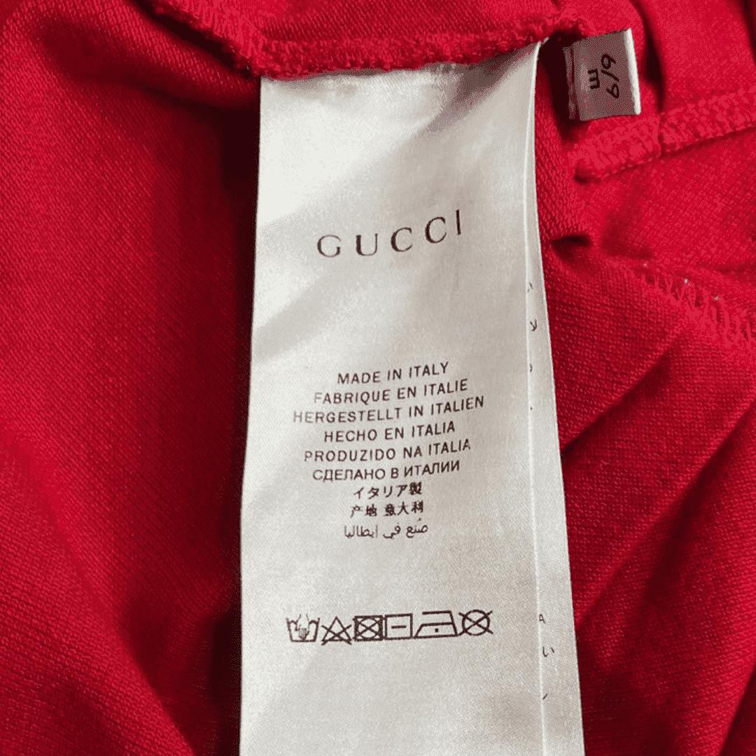 Vestido Piquet Vermelho Gucci 6/9 Meses
