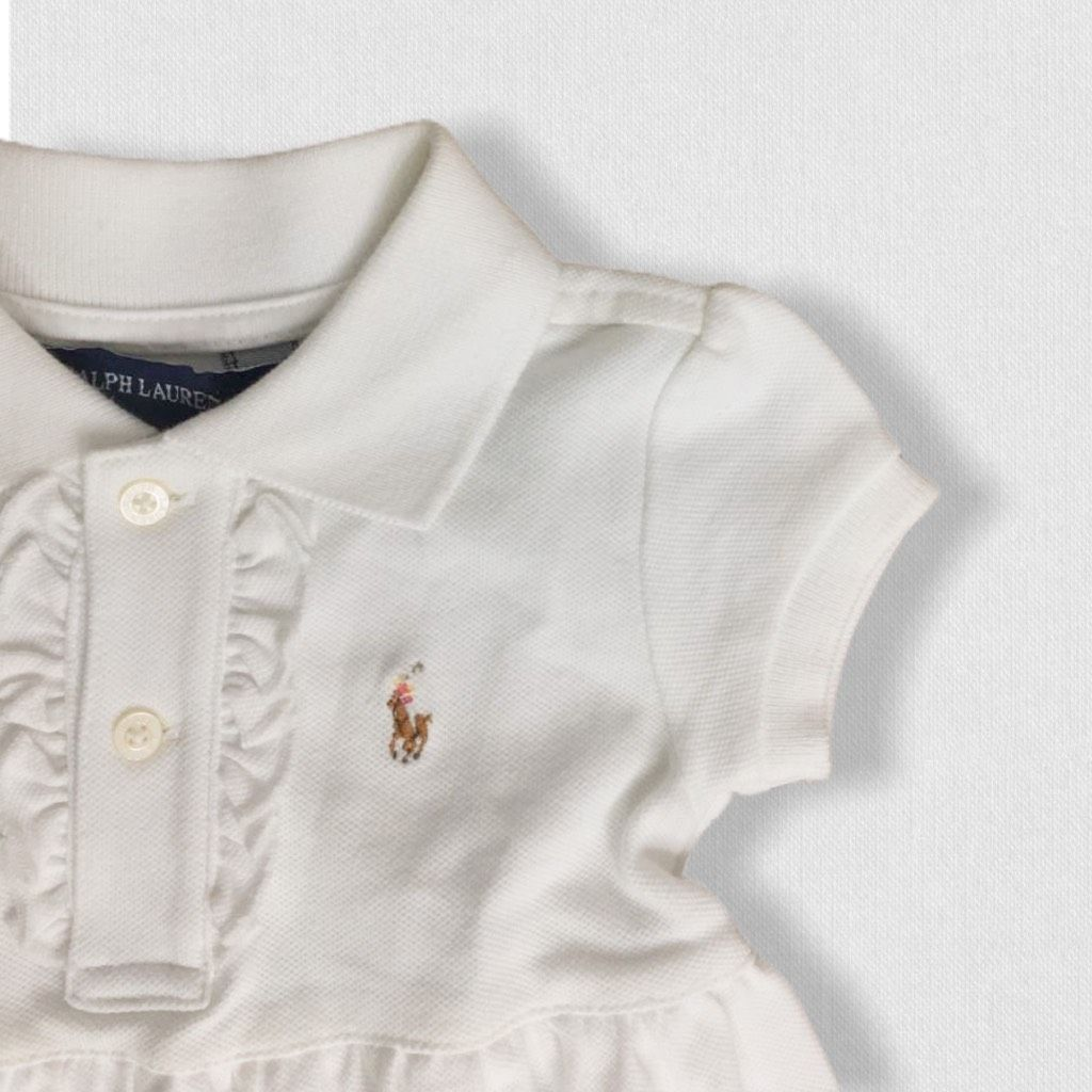 Vestido Polo Branco Ralph Lauren