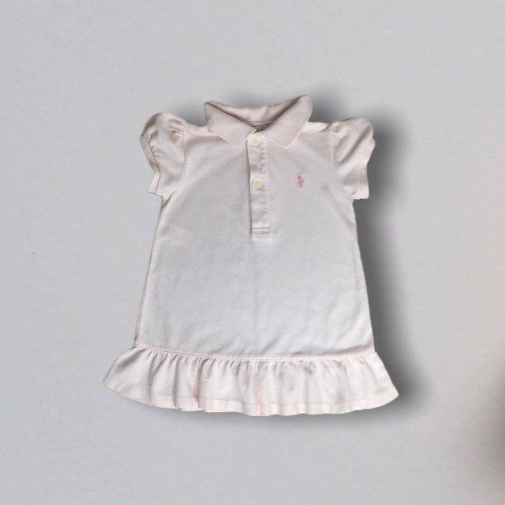 Vestido Polo Rosa Pastel Ralph Lauren
