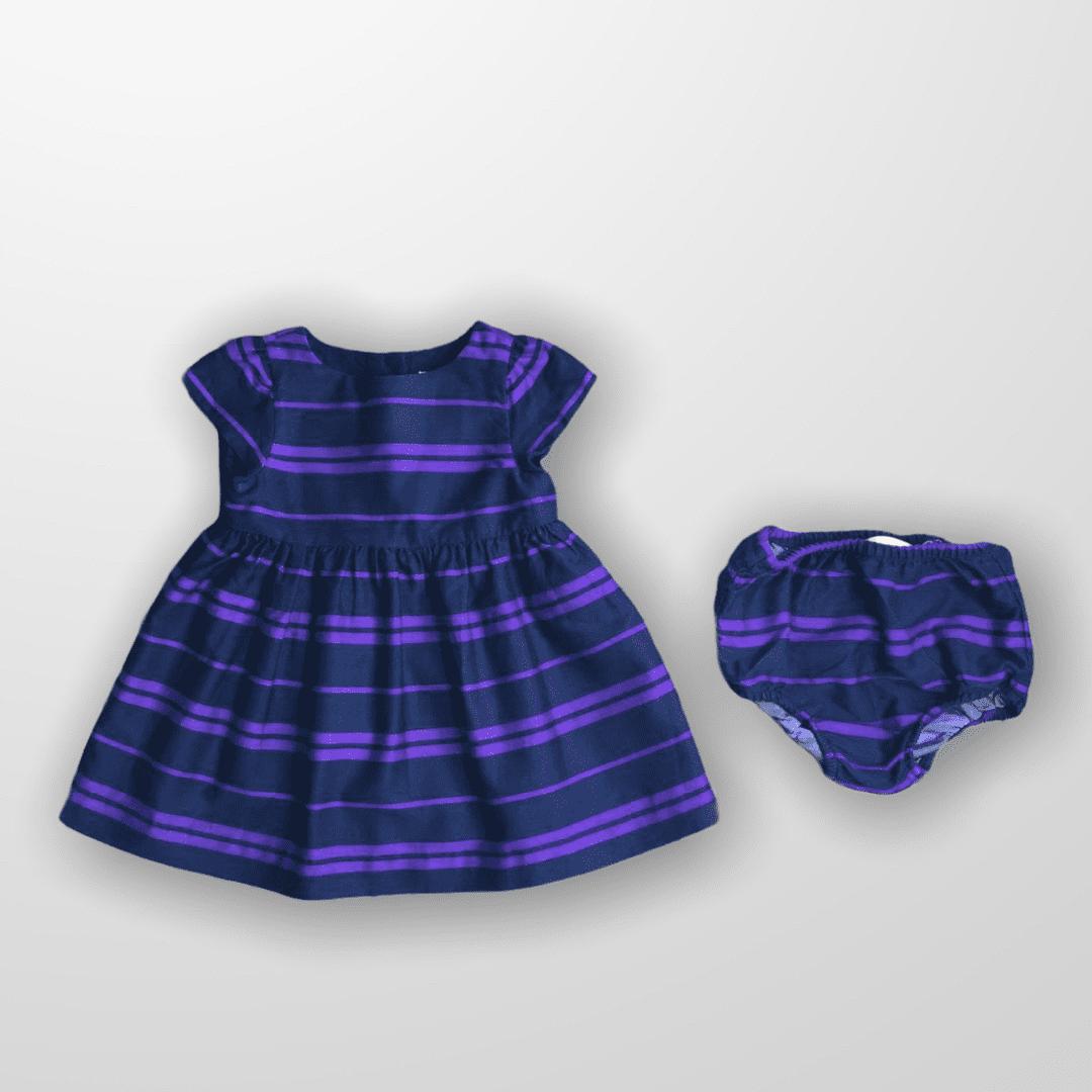 Vestido Purple Listrado Ralph Lauren