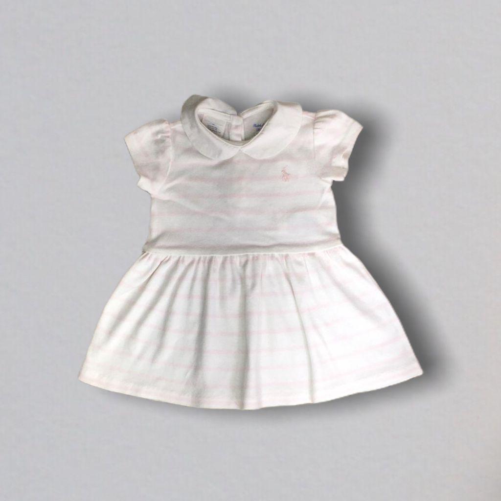 Vestido Rosa Branco Ralph Lauren