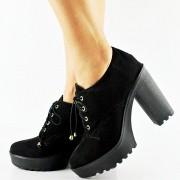 Sapato Oxford Salto Alto Tratorado