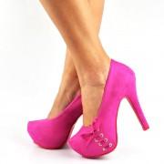 Sapato Peeptoe Scarpin Salto Fino Alto