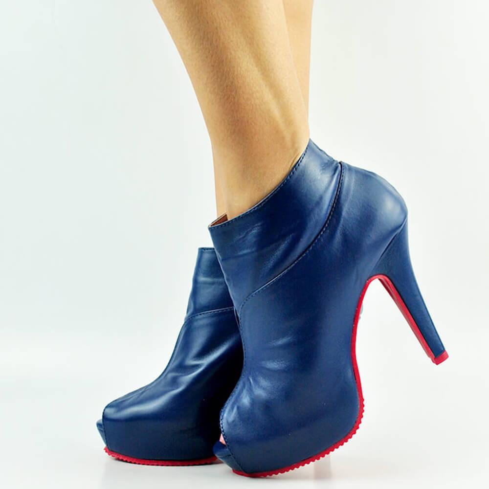 Ankle Boot Salto Fino Alto