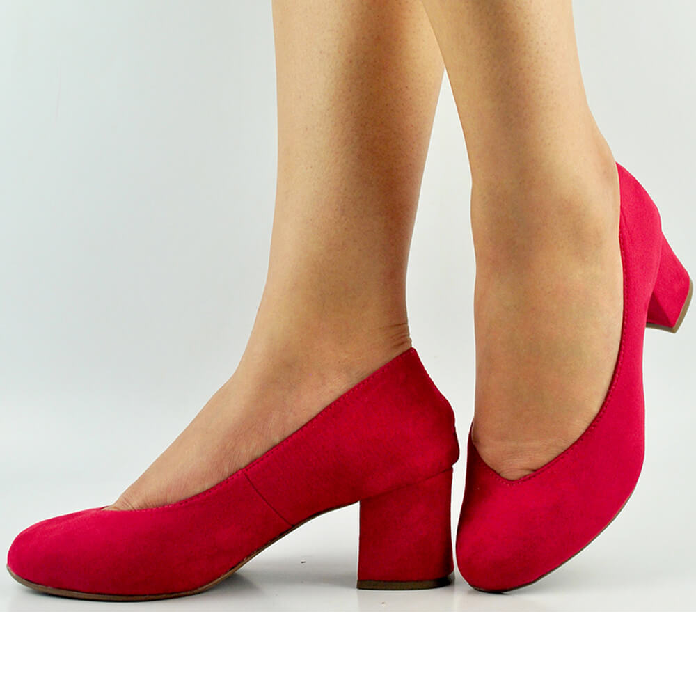 Sapato Boneca Salto Bloco Baixo