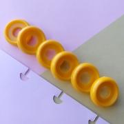 Disco P de Cadernos Infinito Inteligente Círculo 18mm - Amarelo Metalizado