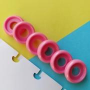 Disco P de Cadernos Infinito Inteligente Círculo 18mm - Rosa Pink Metalizado
