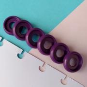 Disco P de Cadernos Infinito Inteligente Círculo 18mm - Roxo Glitter