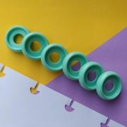Disco P de Cadernos Infinito Inteligente Círculo 18mm - Verde Água