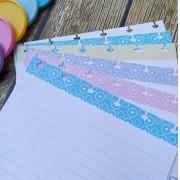 Ficha Pautada de Resumo para Caderno de Disco - Coloridas