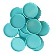 Kit 12 Discos de Caderno Infinito Sistema Inteligente  M 24 ou  G 32mm - Coleção Marshmellow -Liso -Rosa claro- Azul Tiffany - Amarelo -  Amor Infinito