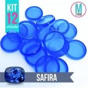 Kit 12 Discos M 24mm de Caderno Infinito Sistema Inteligente Translúcido Liso Amor Infinito - Safira