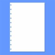 Refil de folha Branca Lisa Para Cadernos de Disco Sistema Inteligente - 120g