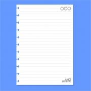 Refil de folha Pautada Para Cadernos de Disco Sistema Inteligente