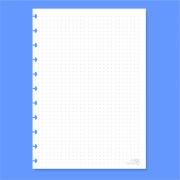 Refil de folha Pontilhada Para Cadernos de Disco Sistema Inteligente