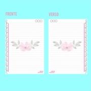 Refil de folhas Para Cadernos de Disco Sistema Inteligente - Floral