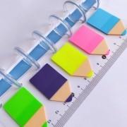 Regua com Postit Color Com Furo Para Caderno de Disco - 20 Folhas