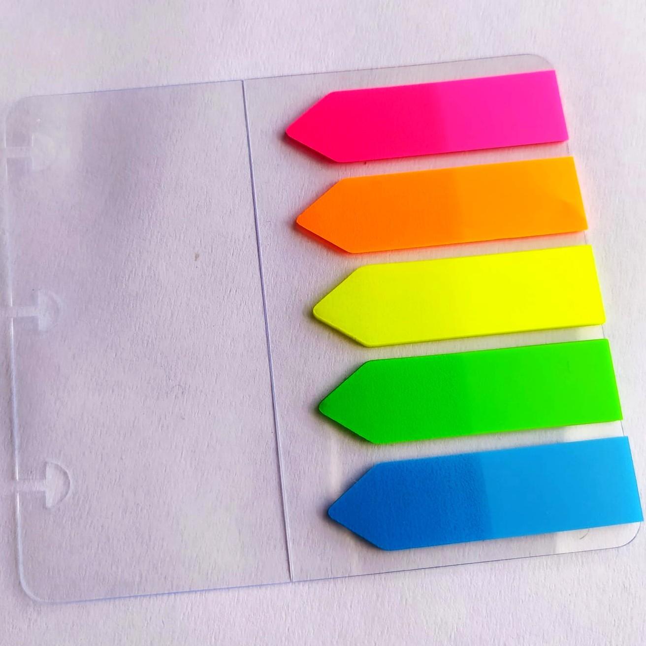 Adesivo Marca Página Neon Para Caderno Inteligente - Plástico Autocolante Amor Infinito Cadernos