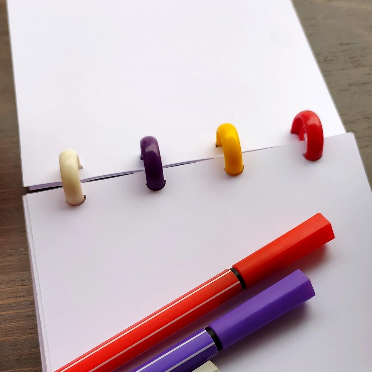 Bloco de Anotações Caderneta Note de Disco Sistema Inteligente Infinito  Folhas Reposicionáveis
