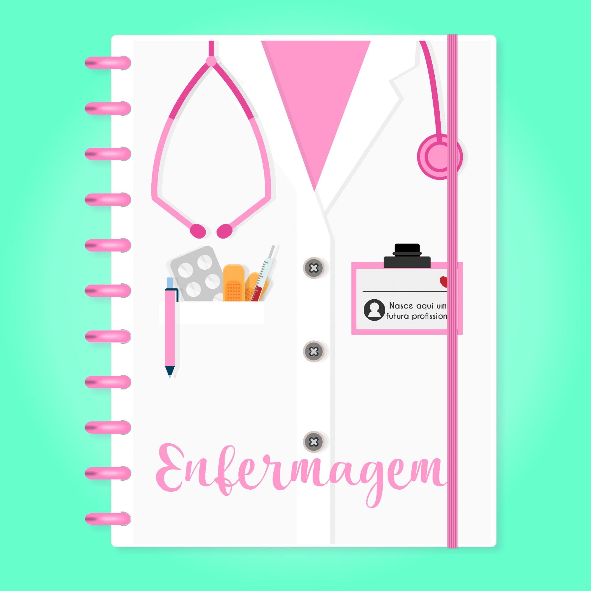 Caderno de Disco Infinito Sistema Inteligente - Profissões - Enfermagem 02