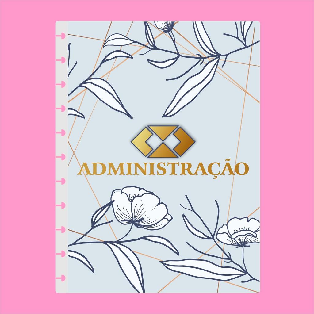 Capa de caderno de disco infinito em polaseal - Sistema inteligente - Profissões - Administração