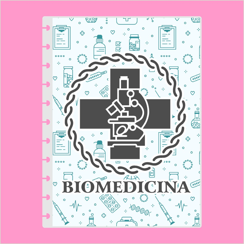 Capa de caderno de disco infinito em polaseal - Sistema inteligente - Profissões - Biomedicina