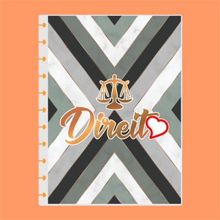 Capa de caderno de disco infinito em polaseal - Sistema inteligente - Profissões - Direito