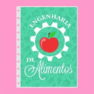Capa de caderno de disco infinito em polaseal - Sistema inteligente - Profissões - Engenharia de Alimentos