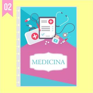 Capa de caderno de disco infinito em polaseal - Sistema inteligente - Profissões - Medicina