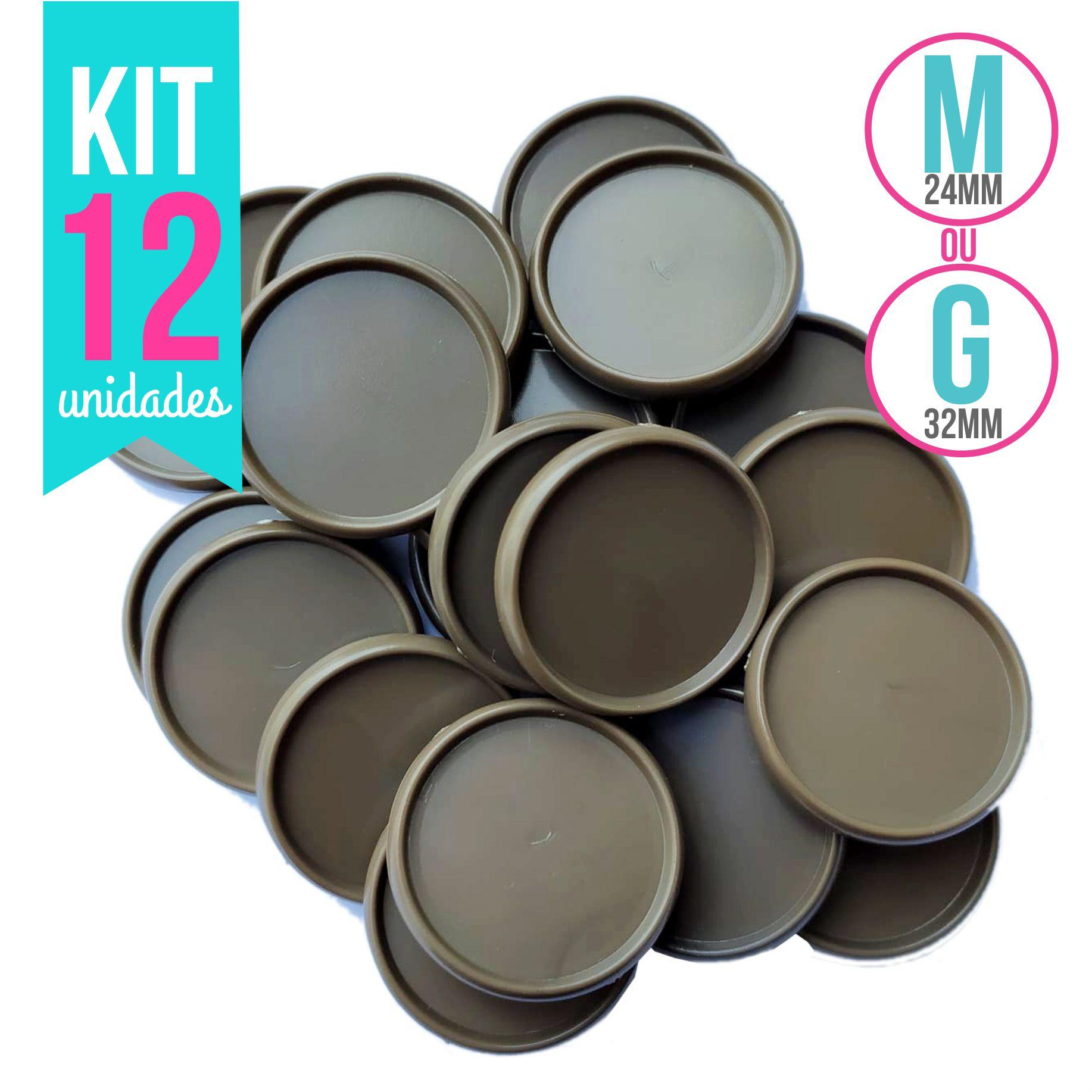 Kit 12 Discos G 32mm ou M 24mm de Caderno Infinito Sistema Inteligente Capuccino Liso Amor Infinito -  Marrom