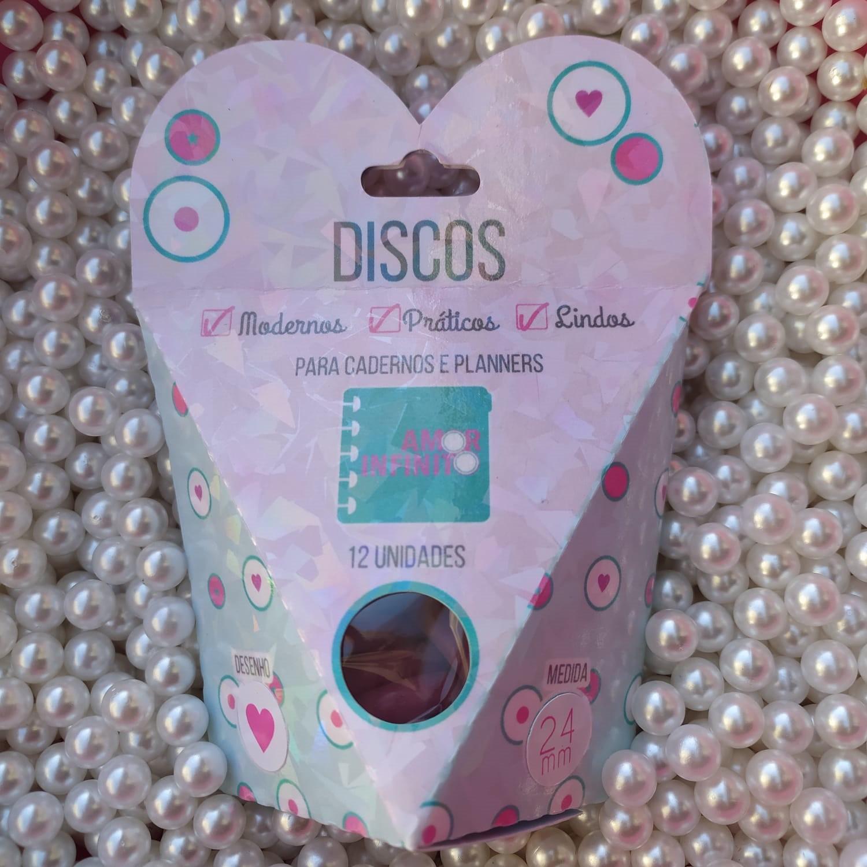 Kit Disco M 24mm de Caderno Infinito Sistema Inteligente - Liso