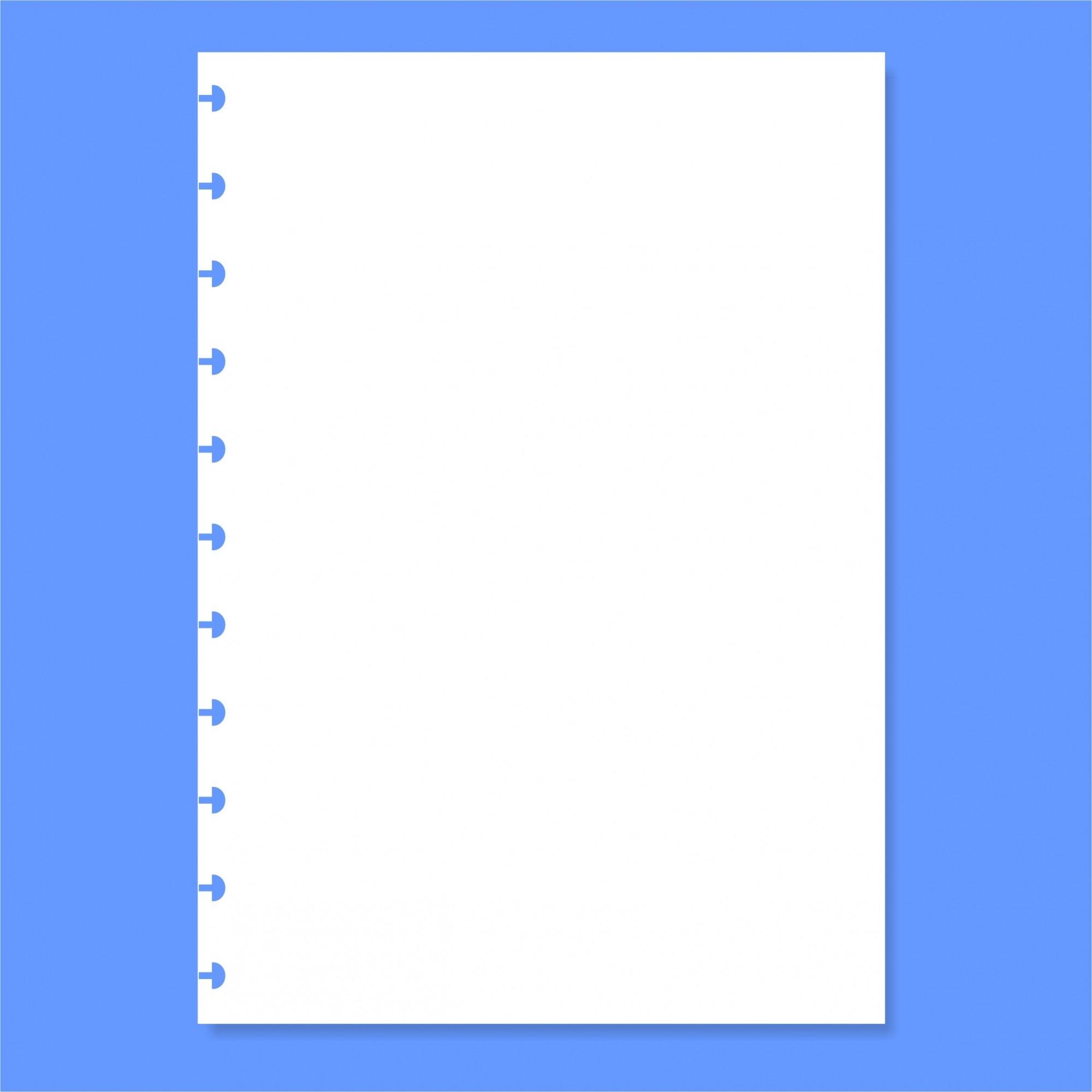 Refil de folha Branca Lisa Para Cadernos de Disco Sistema Inteligente