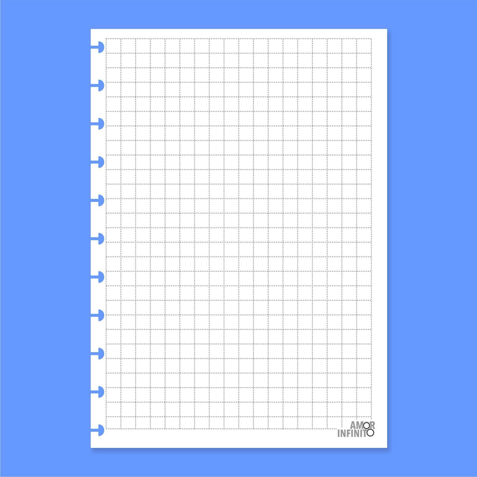 Refil de folha A6 Para Cadernos de Disco Sistema Inteligente