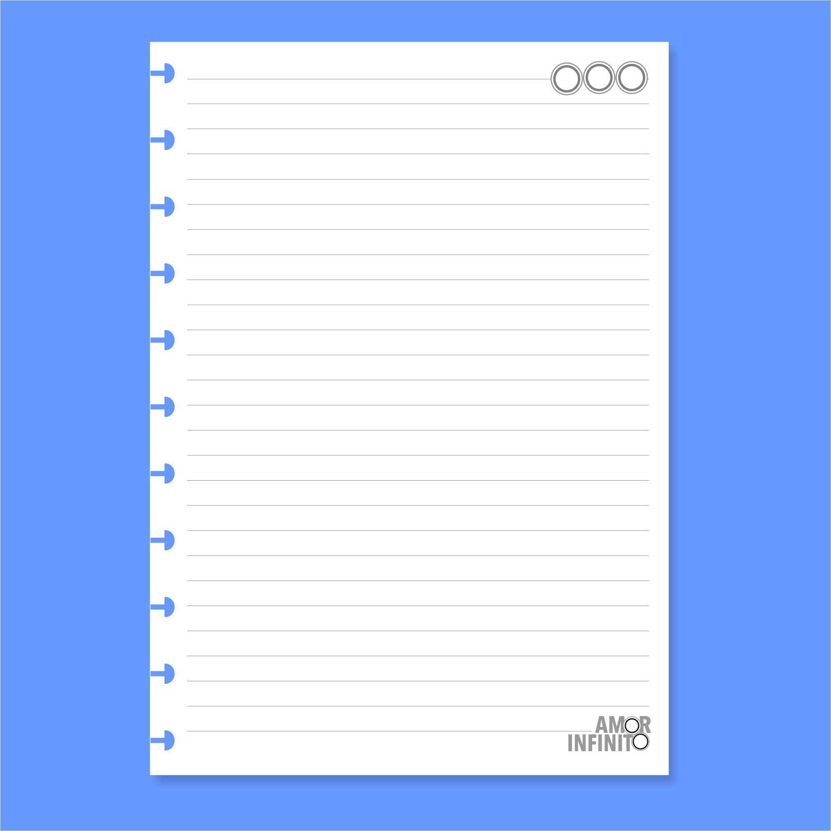 Refil de folha Universitário Para Cadernos de Disco Sistema Inteligente - Médio