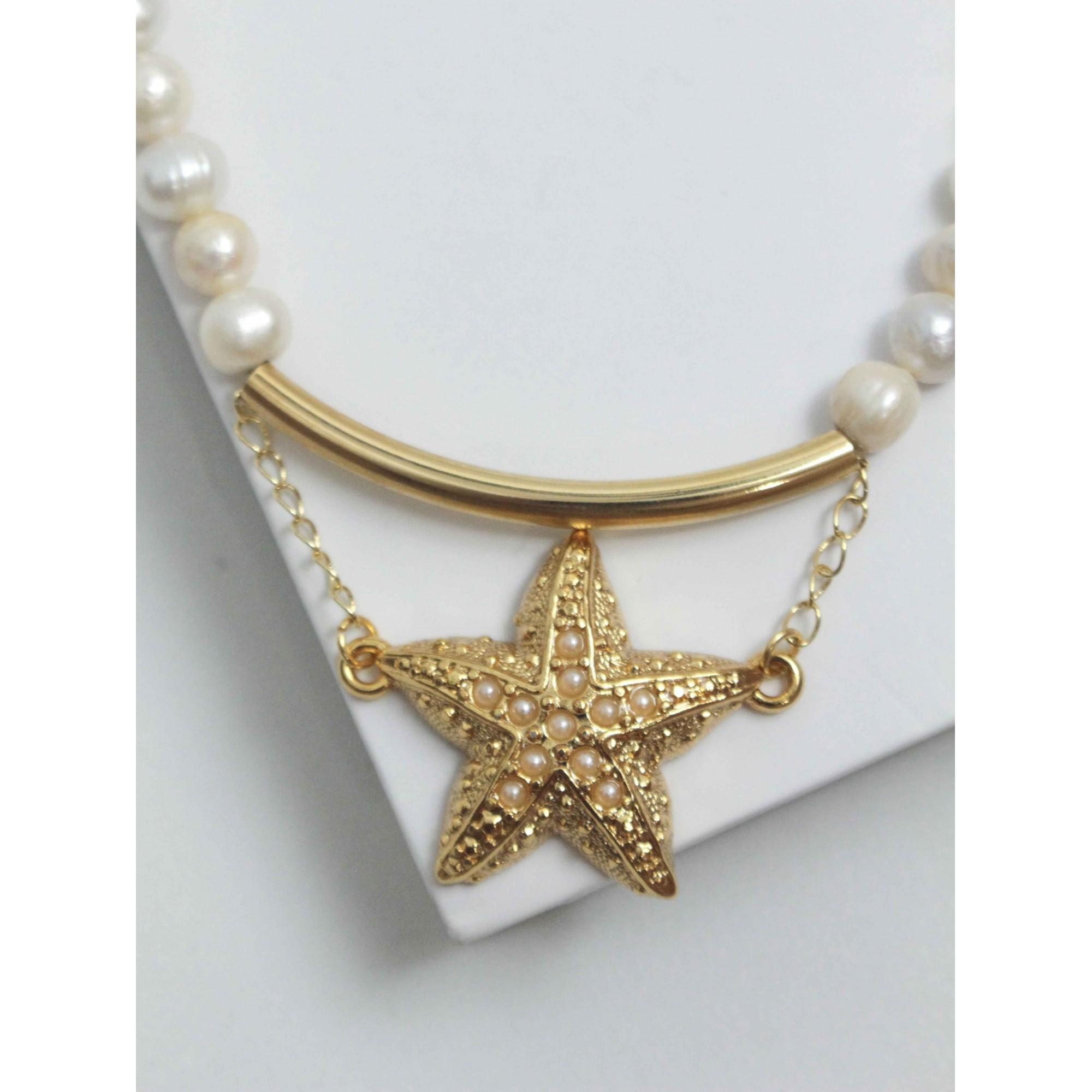 Colar Pérola e Estrela do Mar