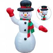 Boneco de Neve Inflavel Decoraçao Natalina Natal Evento Festa 1 metros e 80 centimetros