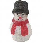 Boneco De Neve Natal Mesa Enfeite 10 Leds Iluminado Acrilico Natalino Christmas