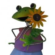 Boneco Sapo com Balde de Flor Para Enfeite e Decoraçao de Jardim (BON-P-5)