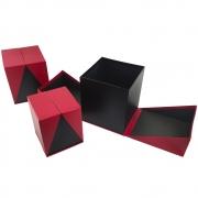 Caixa de presente Rigida 3 Caixas Elastico  Com Tampa Enfeite Sweet Love