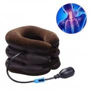 Colar Cervical Pescoço Inflável Ortopedico Almofada Alivia Dores Postural Relaxamento Segurança Portatil