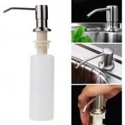 Dispenser Dosador sabão  Embutir Pia  Detergente Sabonete Liquido escovado cozinha banheiro