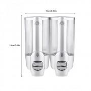 Dispenser Duplo Kit 2 uni Shampoo Alcool Gel Sabonete Liquido Shopping Lanchonete Hotel