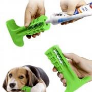 Escova Dentes Mordedor Canino Medio Limpeza Bucal Cachorro Cao Pet Tartaro