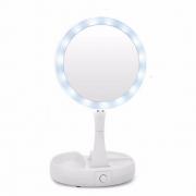 Espelho Luz Led Maquiagem Articulado Portatil Flexivel