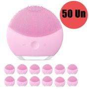 Esponja Massagedora Kit 50 Uni Eletrica Limpeza Facial Mini USB